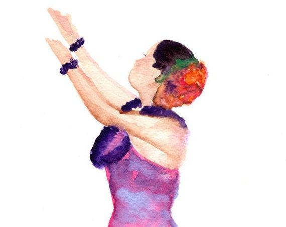 Original Hula Watercolor, Hawaii Decor, Hula Art, Hula Girl, Hula Dancer, Hula Painting,  Kauai Art, Kalea, Hula Gifts, Hawaiian Art