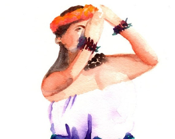 Hula Girl, Hula art print, Hula Decor,Hula Wall Art, Hawaiian Painting, Hula Watercolor Prints, Hawaii art, Hawaiian art, Merrie Monarch
