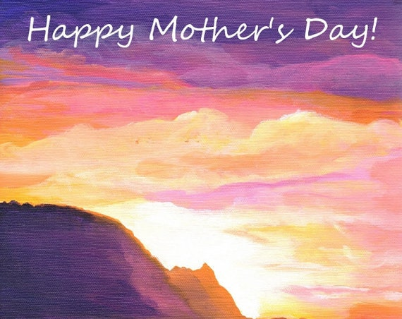 Printable Mother's Day Card, Mom's Day, Kauai, Greeting Cards, Card for Mom, Hawaiian Mom, Hawaii Mothers Day, 5x7 PDF Cards