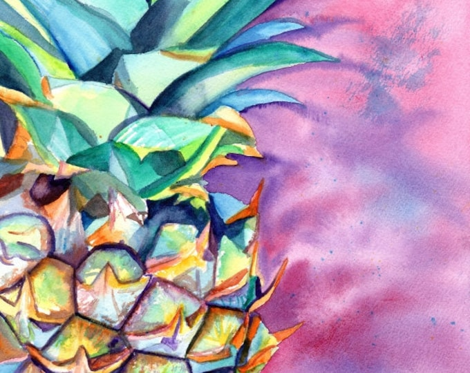 Pineapple art print, Pineapples, Hawaiian Pineapple Art, Pineapple artwork, Pineapple decor, Pineapple design, Hawaii art, oahu, maui