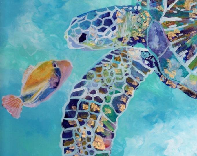 hawaii painting, sea turtle print, hawaiian honu, turtle painting, hawaiian turtle, turtle art prints, turtle ocean art, sea turtle art