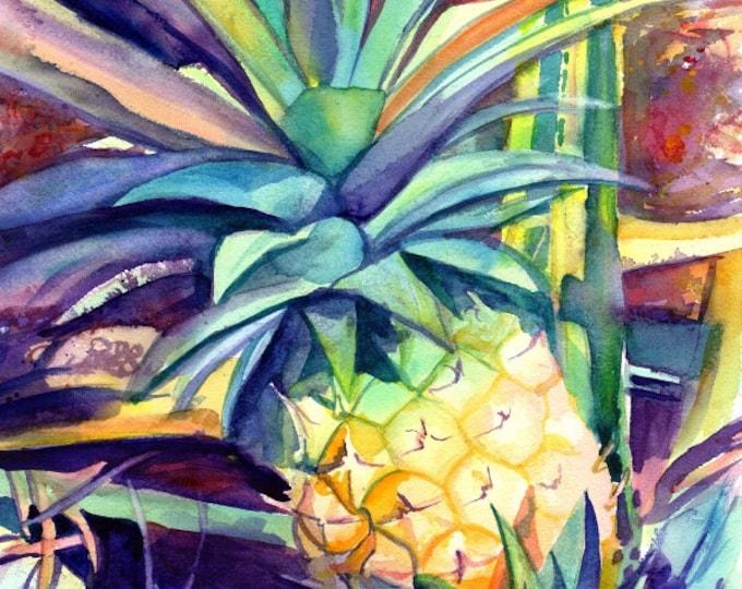 Pineapple art, Pineapple art print, Hawaiian Pineapple Art, Pineapple artwork, Pineapple decor, Pineapple design, Hawaii art