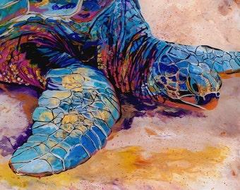 sea turtle art, sea turtle print, honu print, honu turtle art, hawaiian turtle art, turtle art prints, ocean turtle art, Hawaiian painting