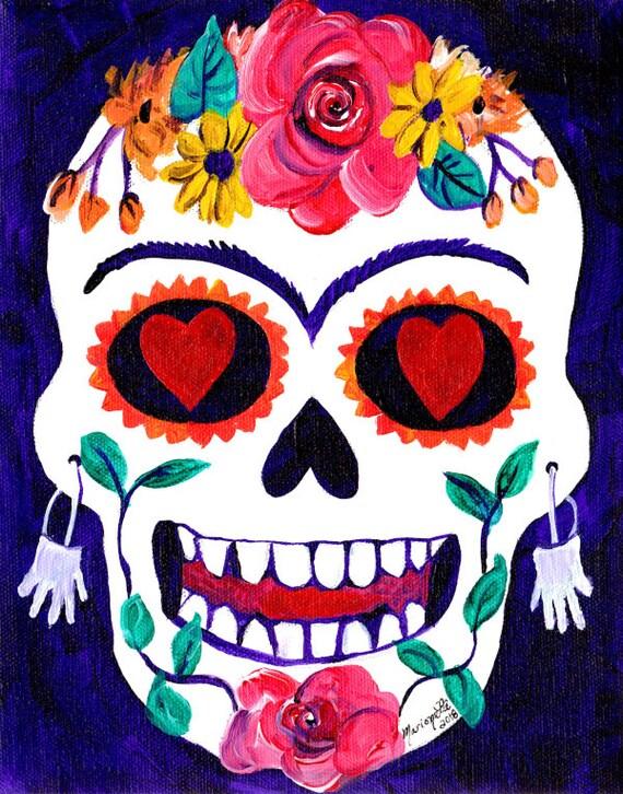 Sugar Skull Decor, Sugar Skull Art, Skull Print, Halloween Decor, Halloween Decorations, Dia De Los Muertos Decor, Mexican Sugar Skull