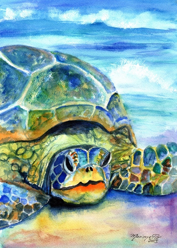 sea turtle print kauai art hawaii art sea turtle prints hawaiian honu sea turtle gifts turtle decor nautical nursery kids room decor