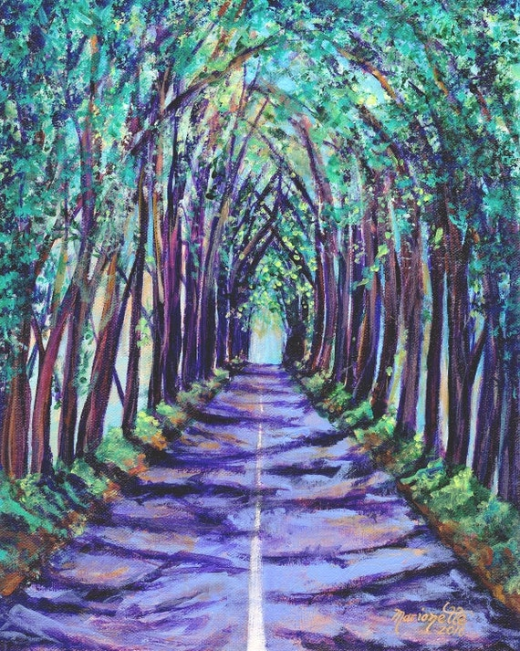 Kauai Tree Tunnel - Kauai Art - Kauai  Print - Koloa Tree Tunnel - Kauai Art Prints - Hawaii  Art - Hawaiian Art - Maluhia Road