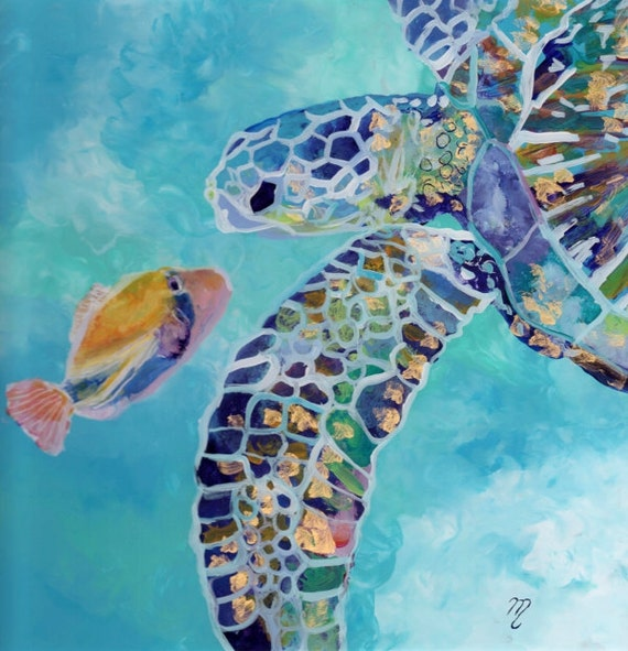 hawaii painting, sea turtle print, hawaiian honu, turtle painting, hawaiian turtle, turtle art prints, turtle ocean art, sea turtle art