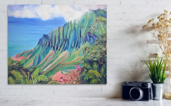 Kalalau Valley Large Art Print 16x20 24x30 Kauai Landscape Hawaii Wall Decor