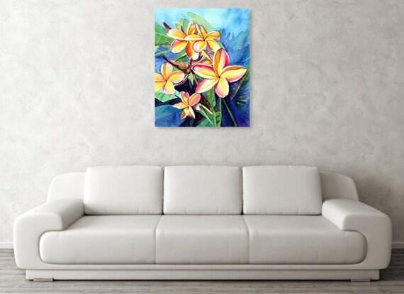 Plumeria Flower Large Art Print 16x20 24x30 Hawaiian Decor Hawaii Wall Art