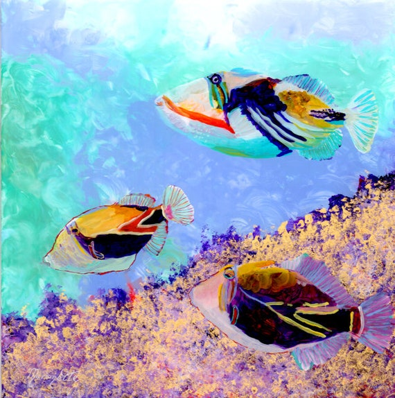 Humuhumunukunukuapua'a Trigger Fish Art Print from Kauai Hawaii, Triggerfish, Under the Sea, Kids Room Decor, Tropical Fish, Ocean Life