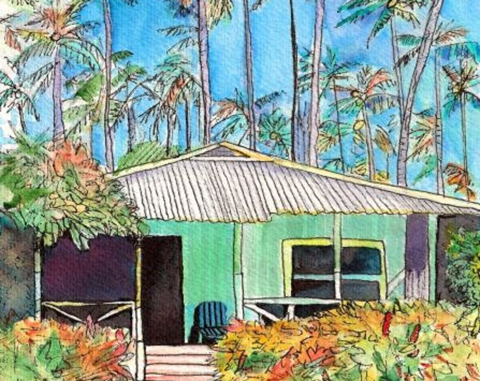 Plantation House Art, Kauai Cottage, Tropical House, Whimsical Cottages, Plantation Cottage, Waimea Plantation Cottages, Tropical Vacation