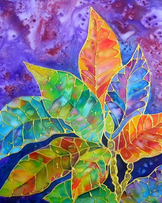 Croton Tropical Leaves, croton print, colorful leaves, tropical plants, tropical leaves, croton painting