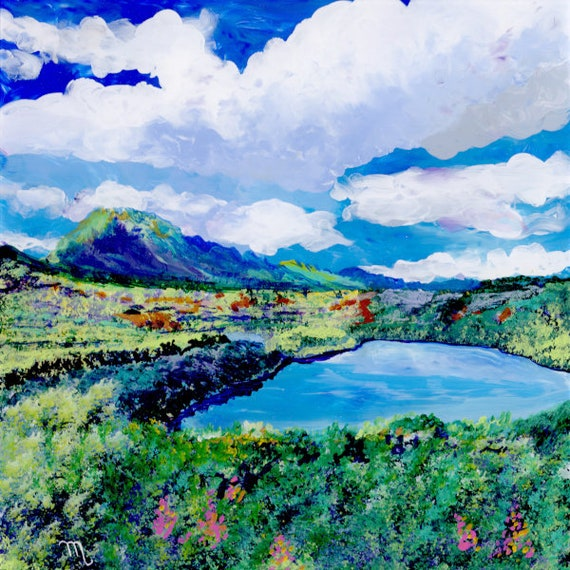 Menehune Fish Pond, Kauai Art Print, Hawaii Painting, Alekoko Fish Pond, Kauai Fish Pond, Kauai Painting, Kauai Landscape, Kauai Artist