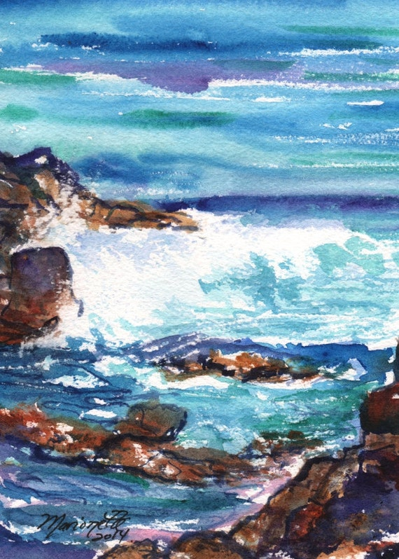 Kauai Ocean Wave -  5x7 Art Print - Kauai Seascape Art - Kauai Tide Pools Prints - Hawaiian Art Prints - Kauai Beach Ocean Art - Home Decor
