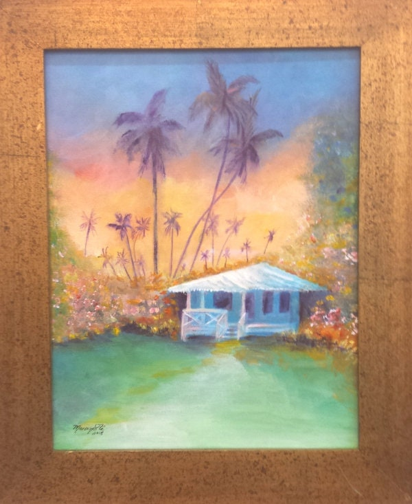 il_fullxfull.1618986233_i4oi Painting Old Hawaiian Plantation House on old chinese house paintings, farm paintings, plantation homes acrylic canvas paintings, scenic country landscape paintings,