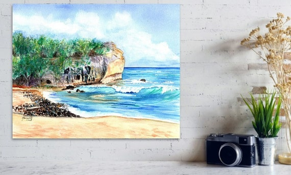 Kauai Shipwrecks Beach Large Art Print 16x20 24x30 Hawaiian Decor Hawaii Wall Art Seascape