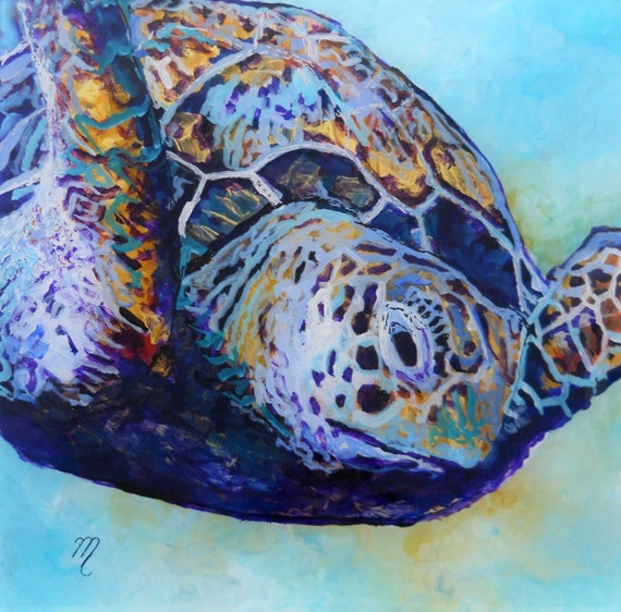 sea turtle art, honu painting, sea turtle print, hawaiian turtle art, turtle art prints, green sea turtle, hawaiian honu