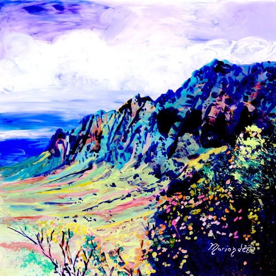 Kalalau Valley, Na Pali Coast Kauai, Kauai Kalalau, Kauai art print, Hawaiian art, Hawaii art print, Hawaii artwork, mountain painting,
