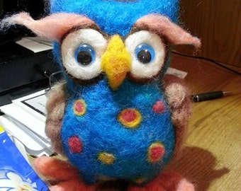 Custom Needle Felted Owl