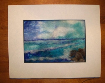 Needle Felted Ocean
