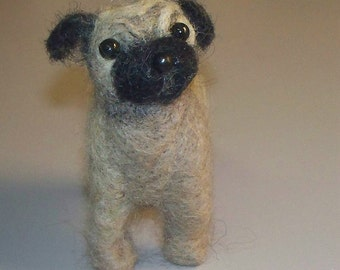 Custom Needle Felted Pug