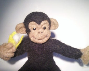 Needle Felted Chimp
