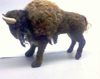 Custom Needle Felted Buffalo Bison