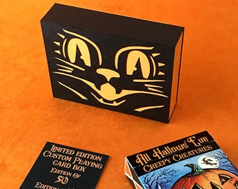 All Hallows' Eve Creepy Creatures playing card deck with limited edition box (50)