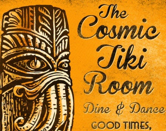 Cosmic Tiki Matchbook Art Print
