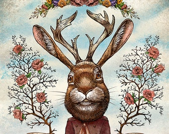 Jedidiah Jackalope- Limited Edition Signed Print