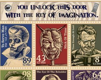 Twilight Zone 11 x 14 signed tribute print