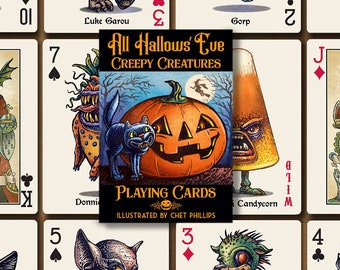 All Hallows' Eve Creepy Creatures Playing Card Deck