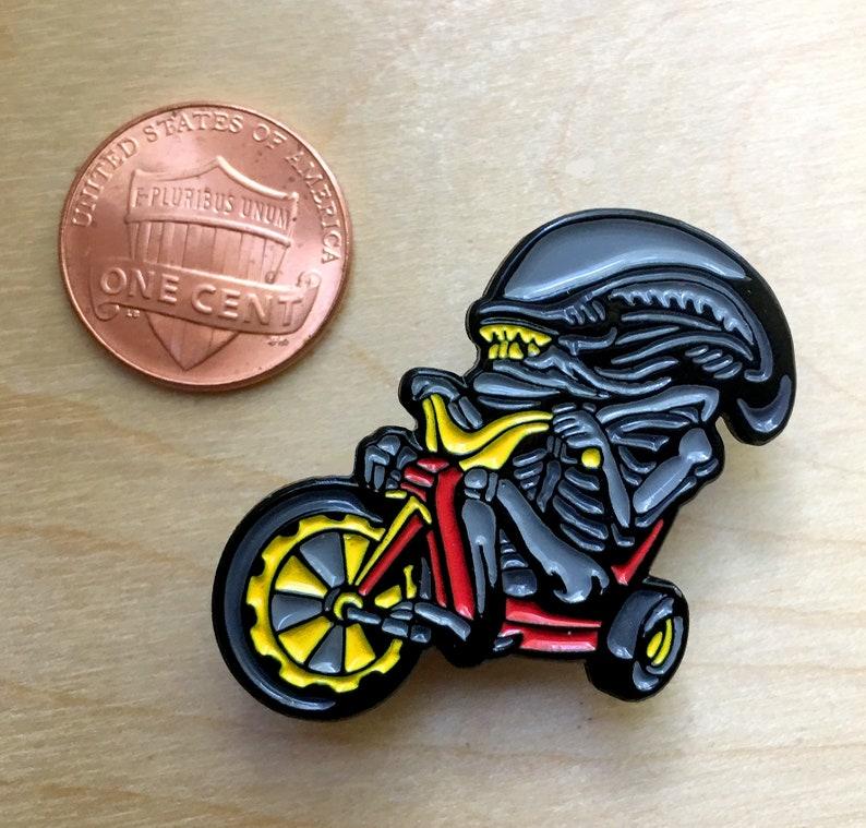 Big Wheel Xenomorph Enamel Pin