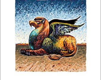"""The Griffin- 8"""" x 10"""" Mythological Beast Wall Decor"""