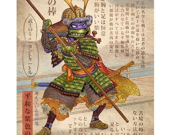 Samurai Turtle- Donatello- 11 x 14 print