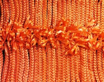 12-pack Single braid ribbon lei