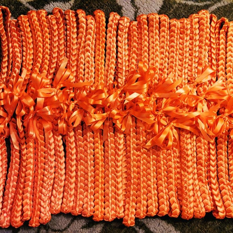 12-pack Single braid ribbon lei image 1