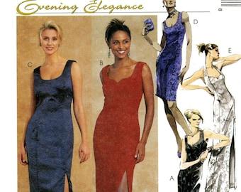 3e49fea8110 McCall's 2394 Evening Elegance Dress Halter Sweetheart Neckline Size 14 16  18 Uncut Sewing Pattern 1999