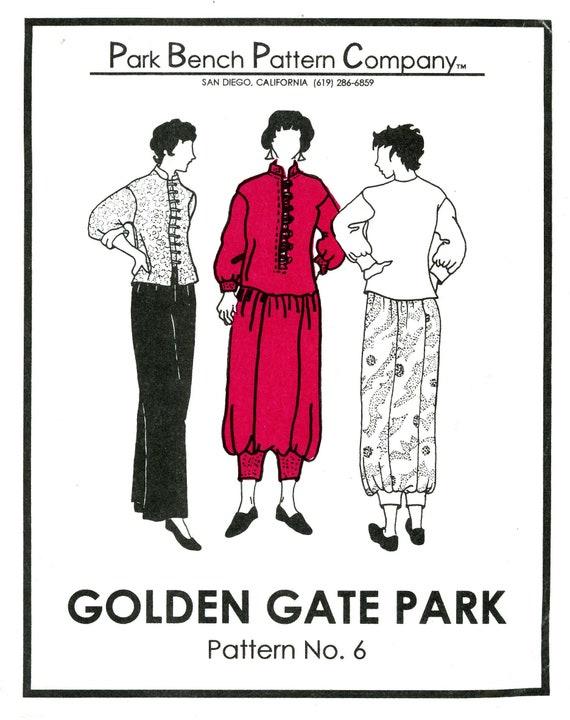 Park Bench Pattern Company No 6 Golden Gate Park Dress Etsy