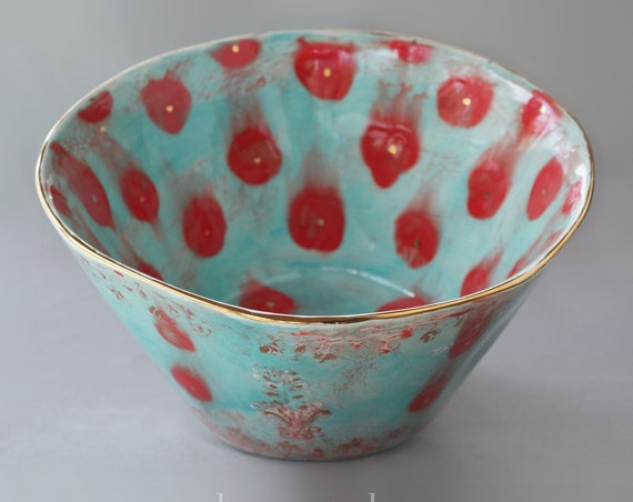 Large Ceramic Serving Bowl in Gypsy Queen