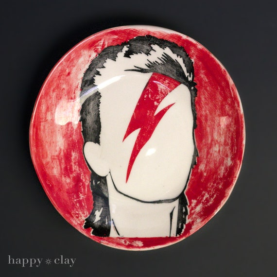Bowie Ziggy Stardust 12 inch Wall to Table Plate