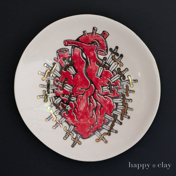 Tarot Heart  12 inch Wall to Table Plate