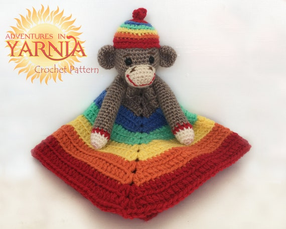 Rainbow Baby Sock Monkey Lovey Crochet Pattern Instant Pdf Etsy