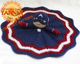 Captain America Lovey Crochet Pattern