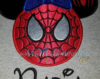 Personalized Spiderman Minnie Mousehead Short Sleeved unisex style Shirt