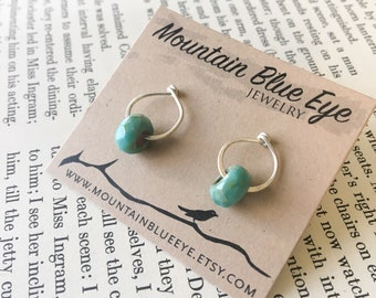 Sterling Silver and Czech Glass Post Earrings