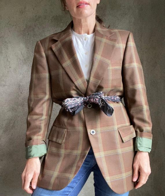 Vintage plaid blazer menswear