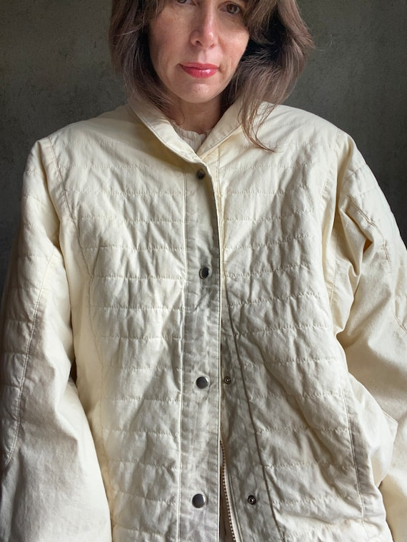 Dolman quilted jacket - image 5