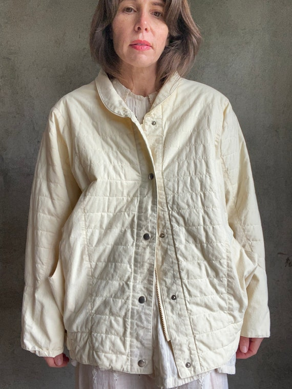 Dolman quilted jacket - image 2