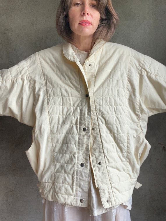 Dolman quilted jacket - image 4